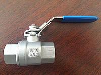 Кран шаровый нержавеющий резьбовой вн-вн AISI304 Ду 8-100 Ру63