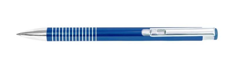 Ручка металлическая шариковая Shiny, цвет ручки Синий