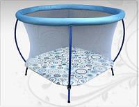 """Манеж ОММІ """"Kolko""""блакитний, кругл.тканина,євро-сітка"""