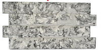 """Термопанель """"Плита цокольная"""" мрамор черно-белый 50мм,25кг/м3"""