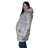 Зимняя куртка для беременных с принтом