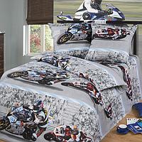 Набор детского постельного белья Мотоцикл ( 100% хлопок, бязь)