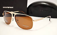 Мужские солнцезащитные очки Emporio Armani EA 3501 золото
