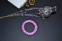 Резиночка-пружинка 6 см, на волосы или на руку, самая низкая цена, рисунок леопард, розовый цвет