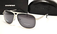 Мужские солнцезащитные очки Emporio Armani EA 3501 серебро