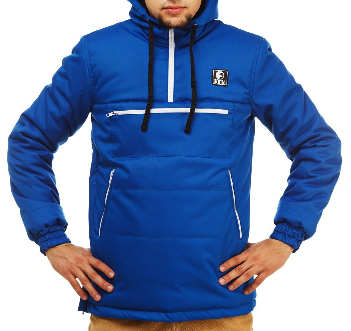 Зимний анорак Ястреб синий, теплая куртка