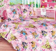 Комплект детского постельного белья Винкс для девочек