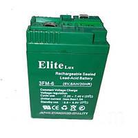 Аккумулятор АК - ELITE LUX  6V 6A CS 1Й СОРТ   .dr