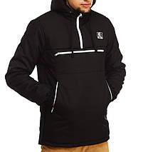 Зимний анорак Ястреб черный, мужская куртка, фото 2