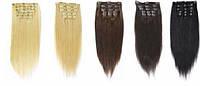Волосы на заколках, на капсулах в Срезе  Блонд  65 см