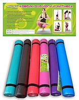 Коврик для фитнеса йогамат Profi MS 0205 HN