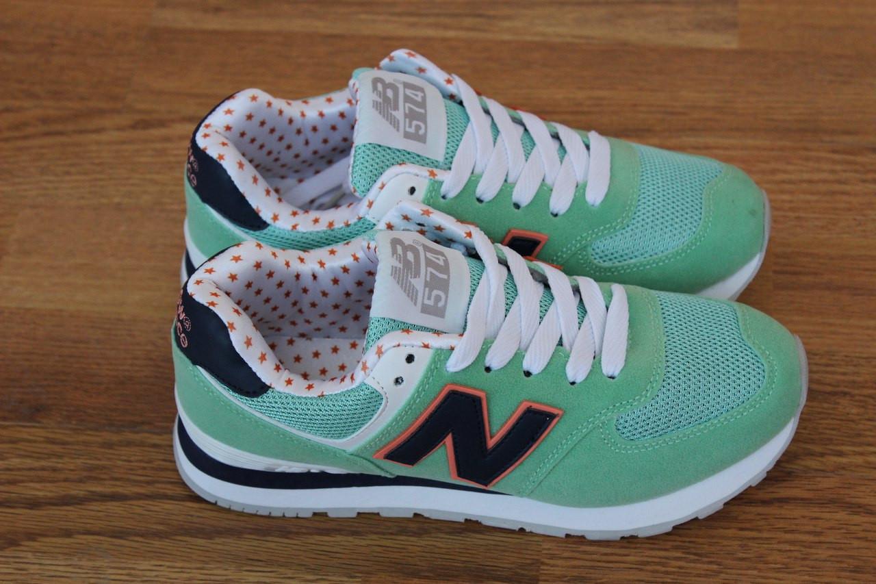 Женские кроссовки New Balance, светло-зеленые