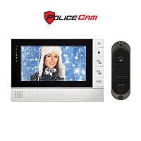 PoliceCam PC-725R0 и DVC-4Q комплект видеодомофона