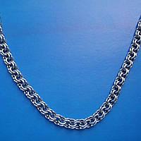 Серебряная цепочка, 650мм, 31 грамм, плетение Бисмарк, чернение