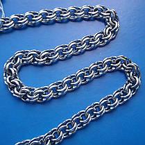 Серебряная цепочка, 600мм, 42 грамма, плетение Бисмарк, фото 3