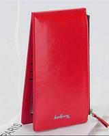 Красный модный женский кожаный бумажник кошелек Baellerry на молнии