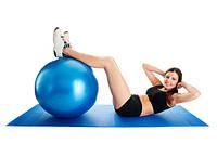 Гимнастический мяч для фитнеса с насосом Фитбол Gymnastic Ball диаметр 65 см, фото 1