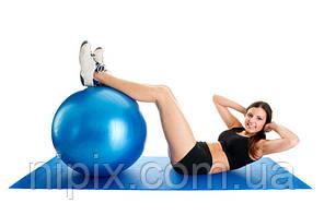 Гимнастический мяч для фитнеса с насосом Фитбол Gymnastic Ball диаметр 65 см