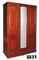 Шкаф 3-х створчатый из массива ольхи, дуба (Темп)