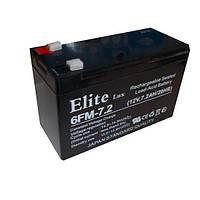 Аккумулятор АК - ELITE LUX  12V 7.2A (1 сорт)  .dr