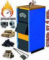 Котел длительного горения Bulava Premium Plus 18 кВт. С регулятором тяги и группой безопасности.