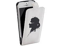 Чехол-флип Karl Lagerfeld Graffiti для iPhone 4/4S White (KLFLP4GWH)