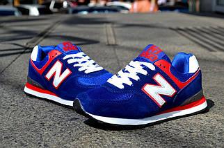Кроссовки New Balance замшевые, синие, фото 2