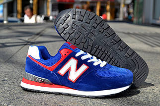 Кроссовки New Balance замшевые, синие, фото 3