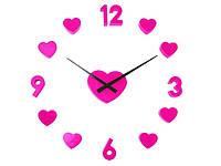 """Часы настенные """"Love"""" (розовые)"""
