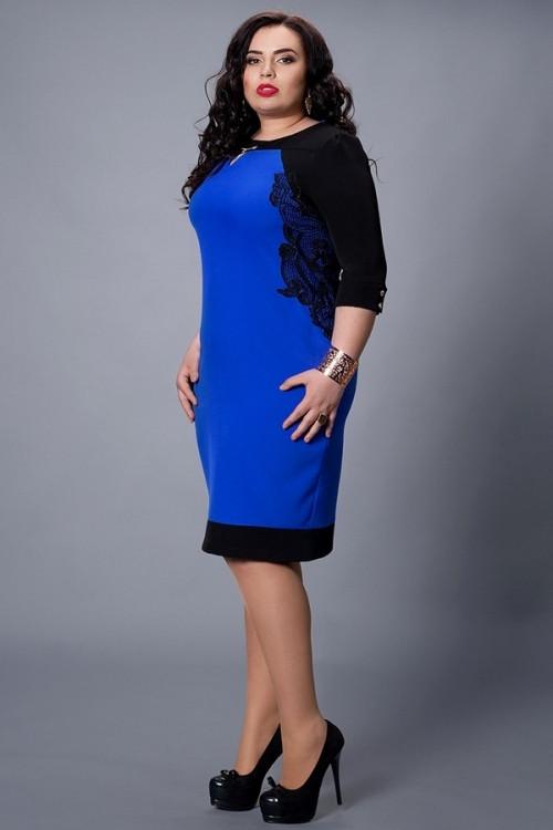 Женское платье с кружевом большой размер