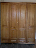 Шкаф 4-х створчатый из массива ольхи/дуба (Темп)