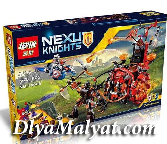 Конструктор лего нексо Nexo 675 деталей 14005 Джестро-Мобиль