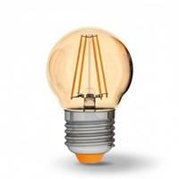 Светодиодная лампа VIDEX 4Вт G45FA/филамент Е27 Теплый белый 2200К бронза