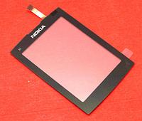 Оригинальный тачскрин / сенсор (сенсорное стекло) для Nokia X3-02 (черный цвет, самоклейка)