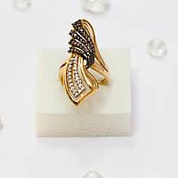 Золотое кольцо с фианитами 90197
