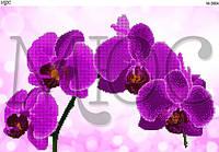Схема для вышивки бисером Ветка орхидеи