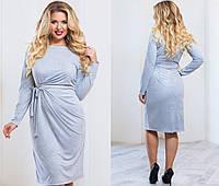 Нарядное женское платье большого размера замш, фото 1