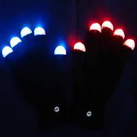 Перчатки светящиеся  - оригинальный аксессуар для вашего образа!