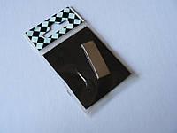 Наклейка h29 I знак буква на авто 9.5х29.4х3.3мм шрифт прямой большой алфавит знаки хромированная, фото 1