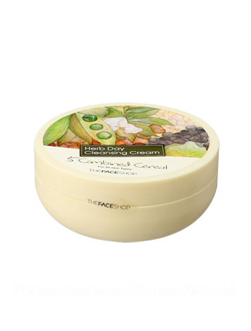 Очищающий крем TheFaceShop HERBDAY CLEANSING CREAM #1 5 COMBINED CEREAL, фото 2