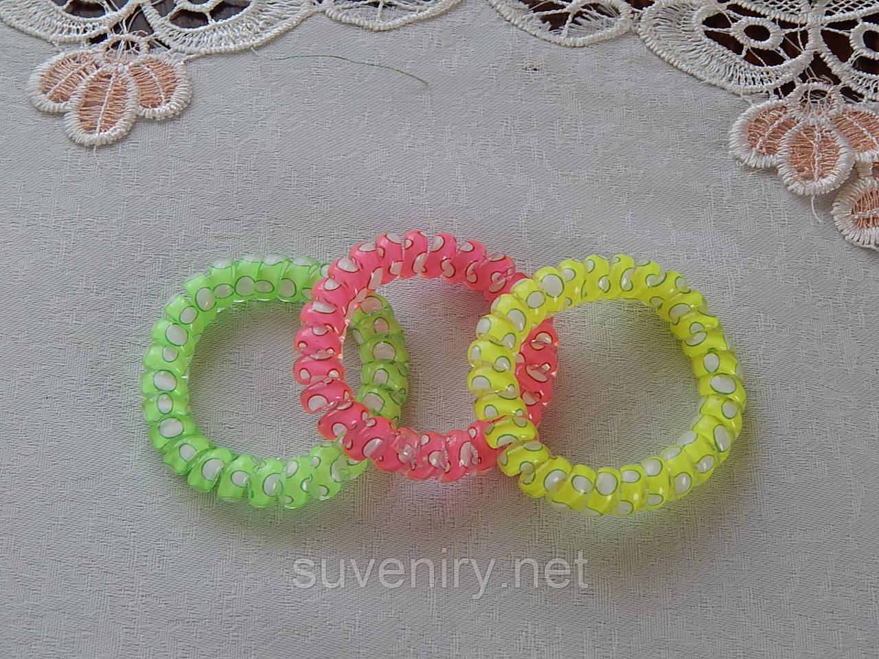 Яркий браслет-резинка 2в1