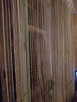 Шторы нити с люрексом радуга 29