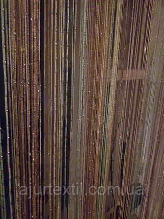 Шторы нити с люрексом радуга 29, фото 2