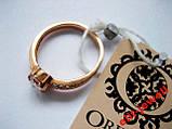 Серебряное кольцо с позолотой 17,5 размер, фото 2