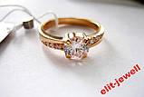 Серебряное кольцо с позолотой 17,5 размер, фото 5