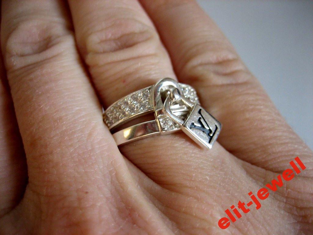 Серебряное кольцо Луи Витон 17 размер