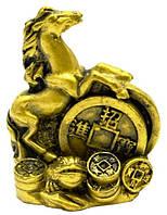 Статуэтка лошадь с монетой бр.
