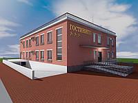 Проект гостиницы на 12 номеров с подземным паркингом