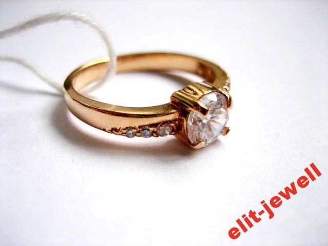 Серебряное кольцо с позолотой 16,5 размер