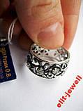 Серебряное кольцо с чернением 17,5 размер, фото 2